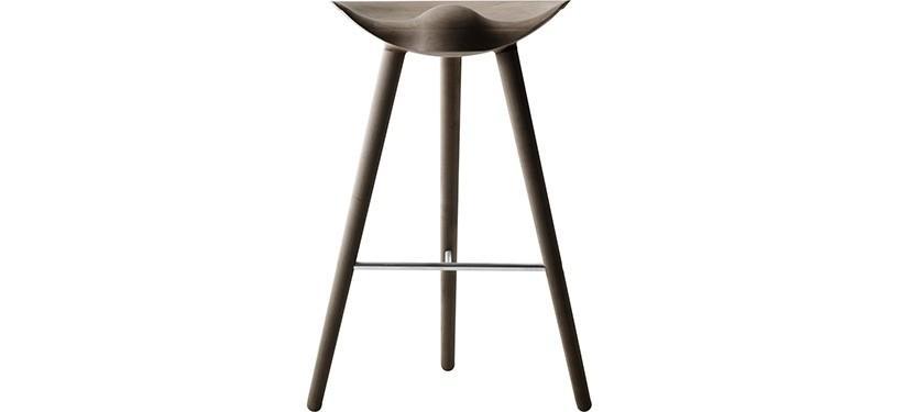 By Lassen ML42 Barstol · Høj · Eg brunolieret · Rustfrit stål