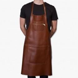 Dutchdeluxes Zipper Classic Forklæde · Classic brown