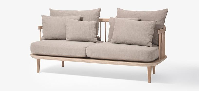 &Tradition Fly Sofa SC2 · Eg hvidolieret · Hot Madison 094