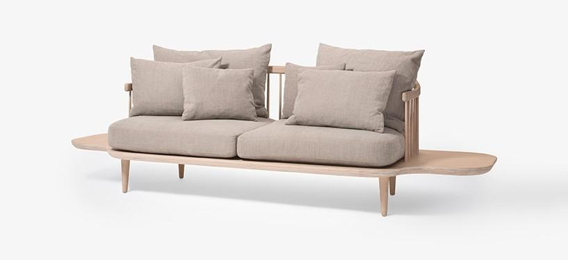 &Tradition Fly Sofa SC3 · Eg hvidolieret · Hot Madison 094