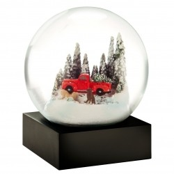 CoolSnowGlobes Red Truck With Dogs