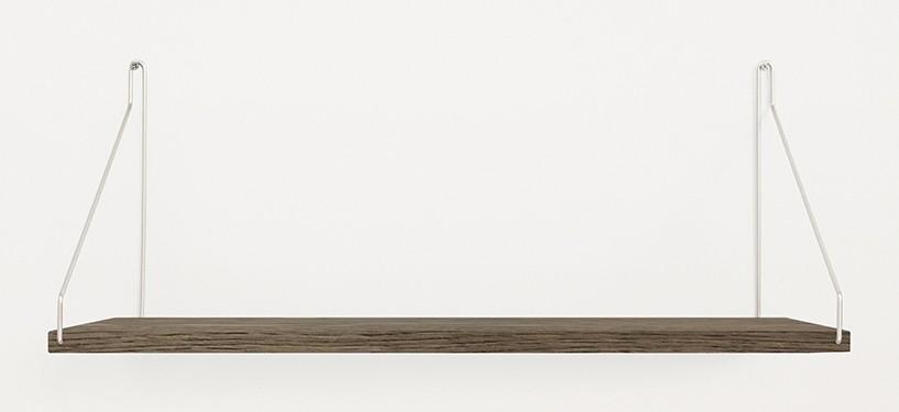 Frama Shelf · Eg Mørkbejdset · 60 x 27 · Rustfrit stål