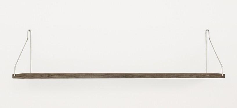 Frama Shelf · Eg Mørkbejdset · 80 x 20 · Rustfrit stål