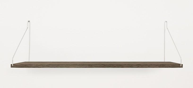 Frama Shelf · Eg Mørkbejdset · 80 x 27 · Rustfrit stål