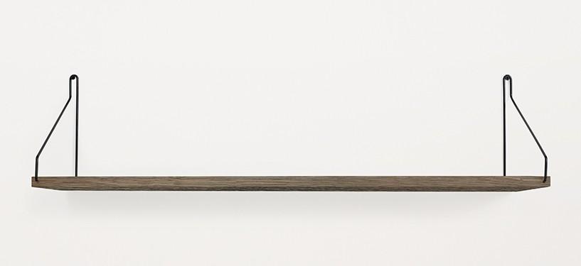 Frama Shelf · Eg Mørkbejdset · 80 x 20 · Sort
