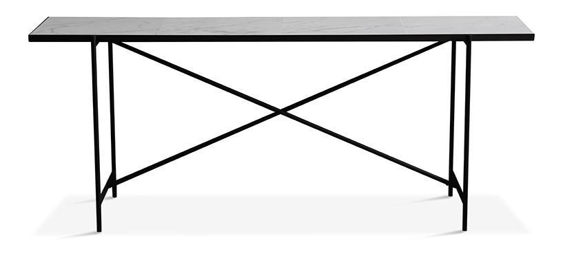 Handvärk Console · Marmor hvid · Sort