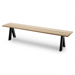 Skagerak Overlap Bench · Anthracite Black