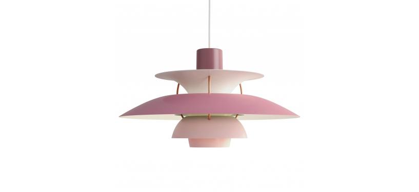 Louis Poulsen PH 5 · Nuancer af rosa