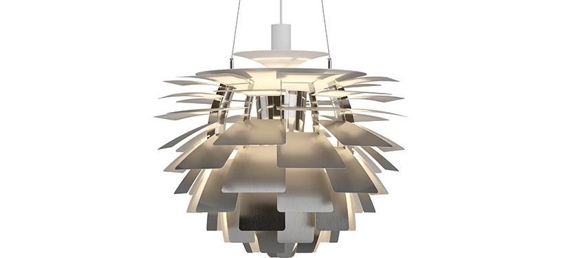 Louis Poulsen PH Kogle (Artichoke) · Rustfrit stål · Ø 60 cm.