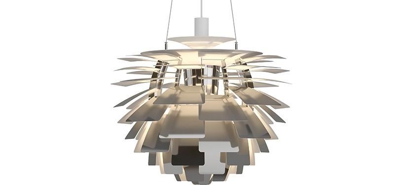 Louis Poulsen PH Kogle (Artichoke) · Rustfrit stål poleret · Ø 60 cm.