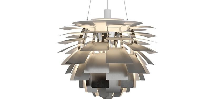 Louis Poulsen PH Kogle (Artichoke) · Rustfrit stål · Ø 72 cm.