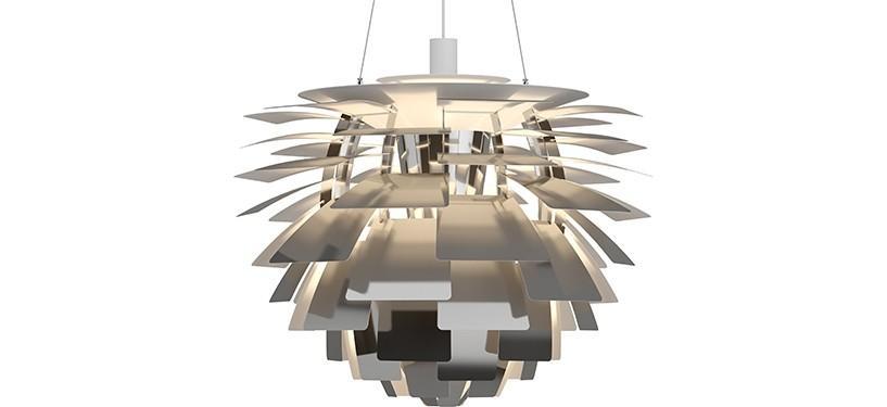 Louis Poulsen PH Kogle (Artichoke) · Rustfrit stål poleret · Ø 72 cm.