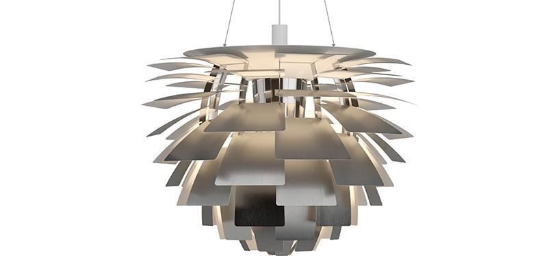 Louis Poulsen PH Kogle (Artichoke) · Rustfrit stål · Ø 84 cm.