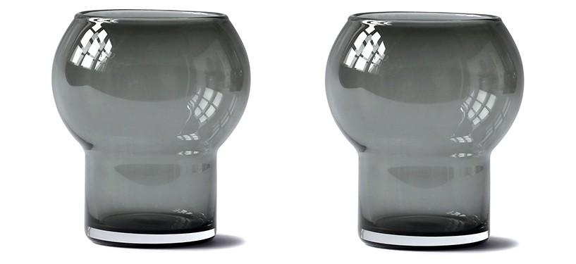 Ro Collection Two Glasses No. 48 · Smoked grey