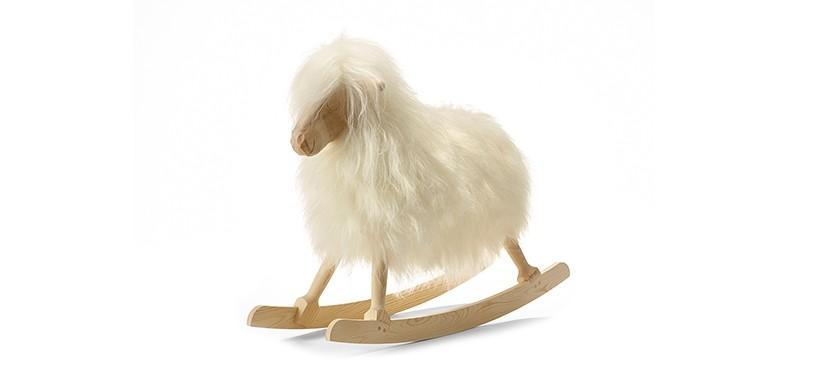 Povl Kjer Rokkefår · Lang uld · Hvid
