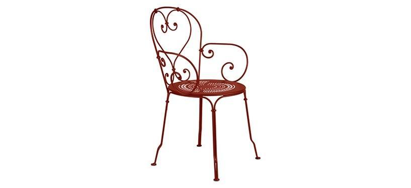 Fermob 1900 Armchair · Red Ochre
