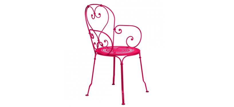 Fermob 1900 Armchair · Pink Praline