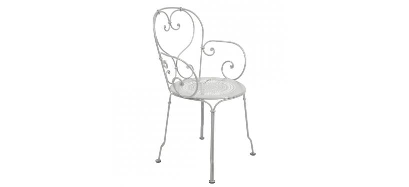 Fermob 1900 Armchair · Steel Grey