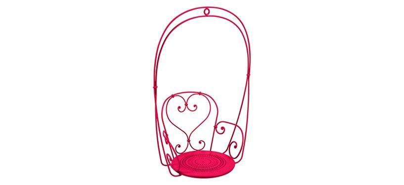 Fermob 1900 Hanging Armchair · Pink Praline