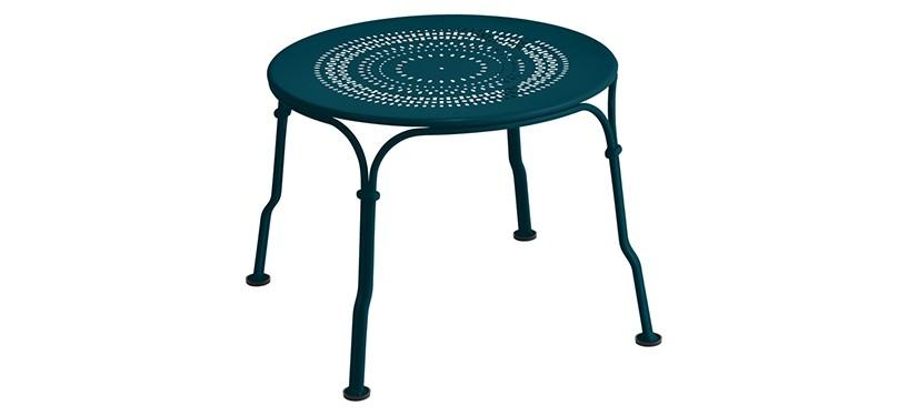 Fermob 1900 Low Table · Acapulco Blue