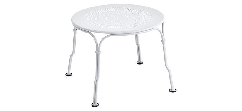 Fermob 1900 Low Table · Cotton White