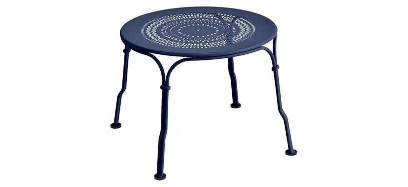 Fermob 1900 Low Table · Deep Blue