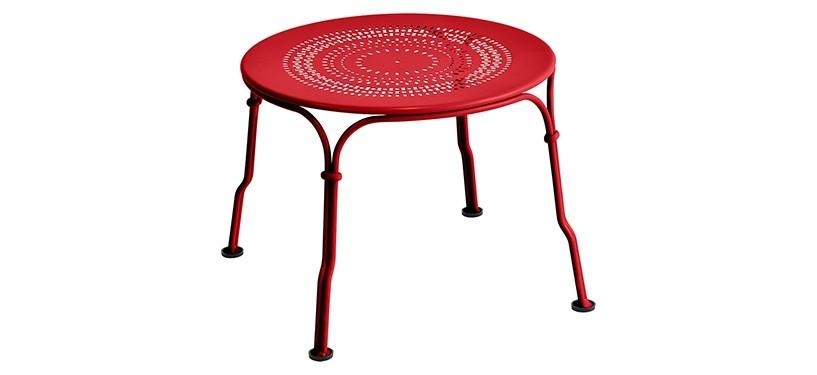 Fermob 1900 Low Table · Poppy