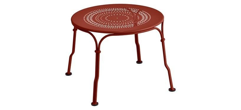 Fermob 1900 Low Table · Red Ochre