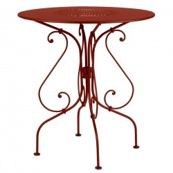 Fermob 1900 Pedestal Table · Red Ochre