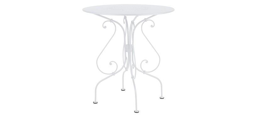 Fermob 1900 Pedestal Table · Cotton White
