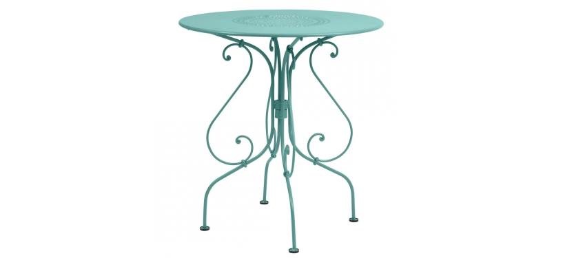 Fermob 1900 Pedestal Table · Lagoon Blue