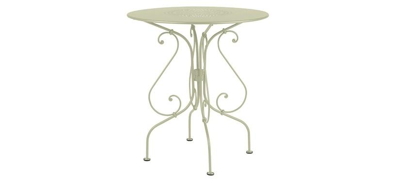 Fermob 1900 Pedestal Table · Willow Green