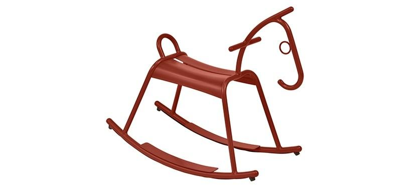 Fermob Adada Rocking Horse · Red Ochre