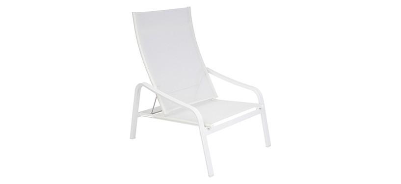 Fermob Alizé Low Armchair · Cotton White