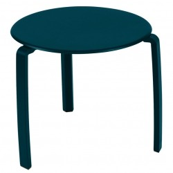 Fermob Alizé Low Table · Acapulco Blue