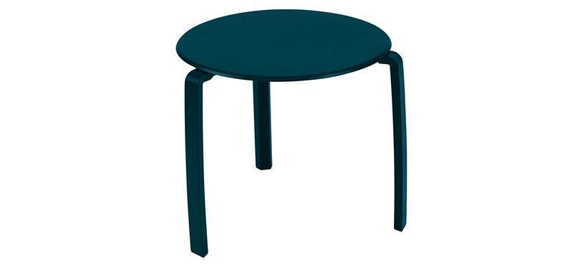 Fermob Alizé Low Table · Acapulco Blue