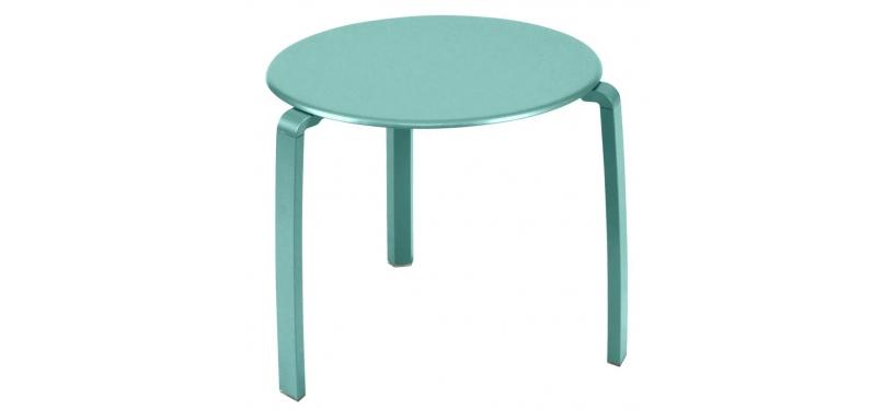 Fermob Alizé Low Table · Lagoon Blue