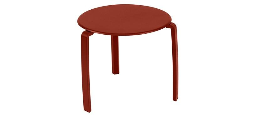 Fermob Alizé Low Table · Red Ochre