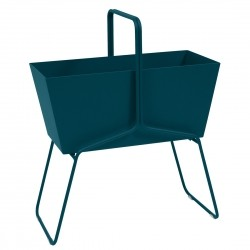Fermob Basket High Planter · Acapulco Blue