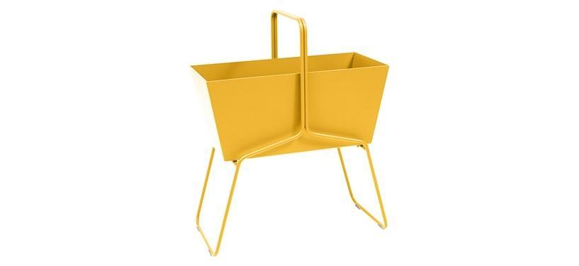 Fermob Basket High Planter · Honey