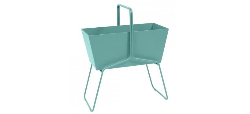 Fermob Basket High Planter · Lagoon Blue