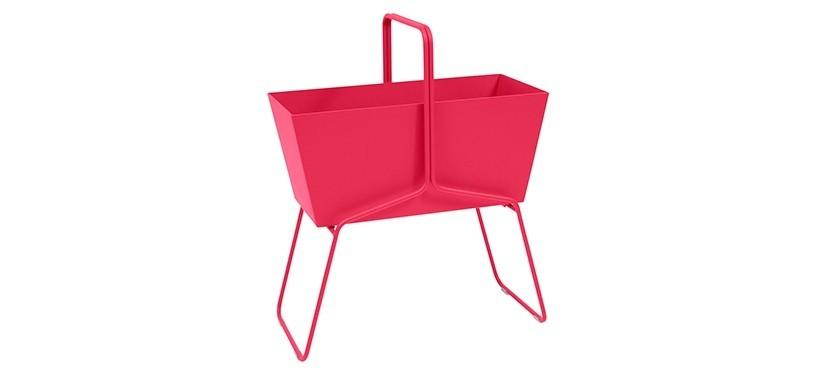 Fermob Basket High Planter · Pink Praline