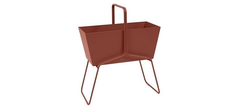 Fermob Basket High Planter · Red Ochre