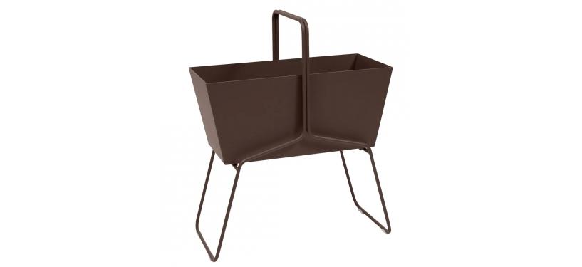 Fermob Basket High Planter · Russet