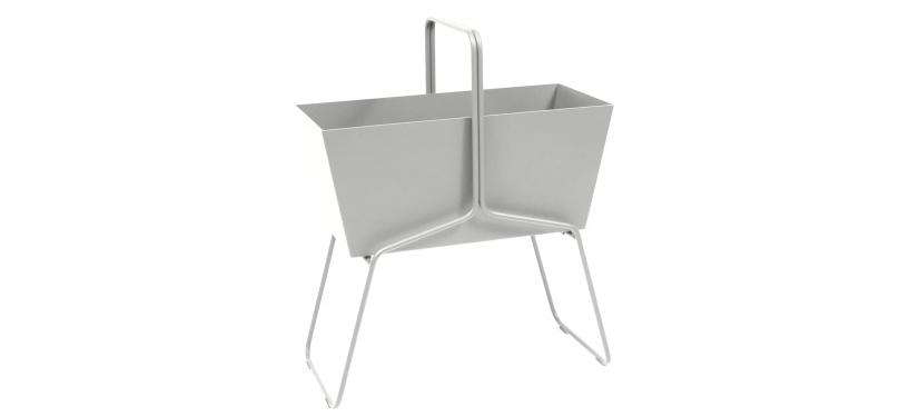 Fermob Basket High Planter · Steel Grey