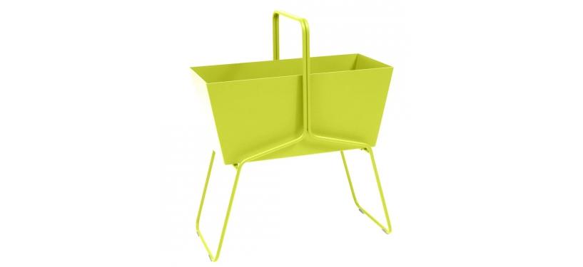 Fermob Basket High Planter · Verbena