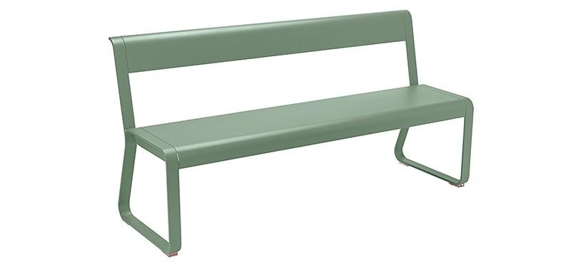 Fermob Bellevie Bench with backrest · Cactus