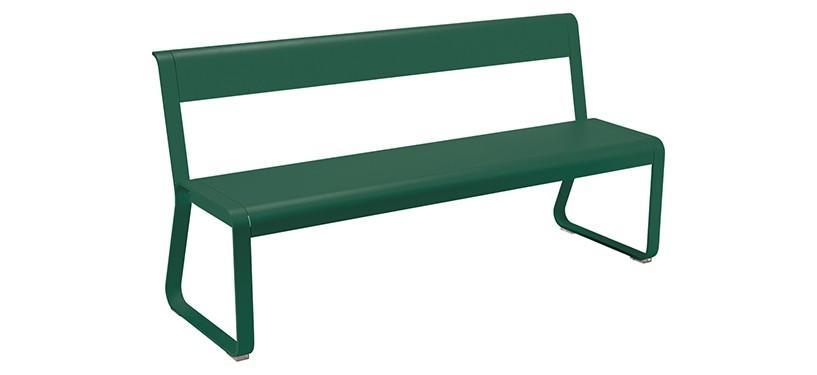 Fermob Bellevie Bench with backrest · Cedar Green