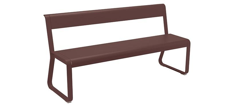 Fermob Bellevie Bench with backrest · Russet