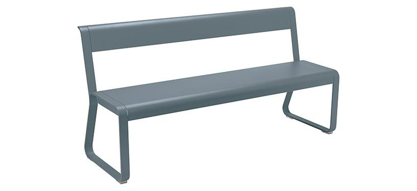 Fermob Bellevie Bench with backrest · Storm Grey